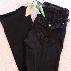 Rock and Republic black studded pocket jeans